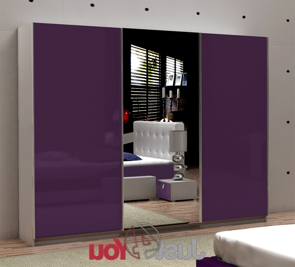 Most Up To Date High Gloss Doors Wardrobes For Wardrobe Fox With Mirror – Sliding Doors With High Gloss, Various (View 15 of 15)