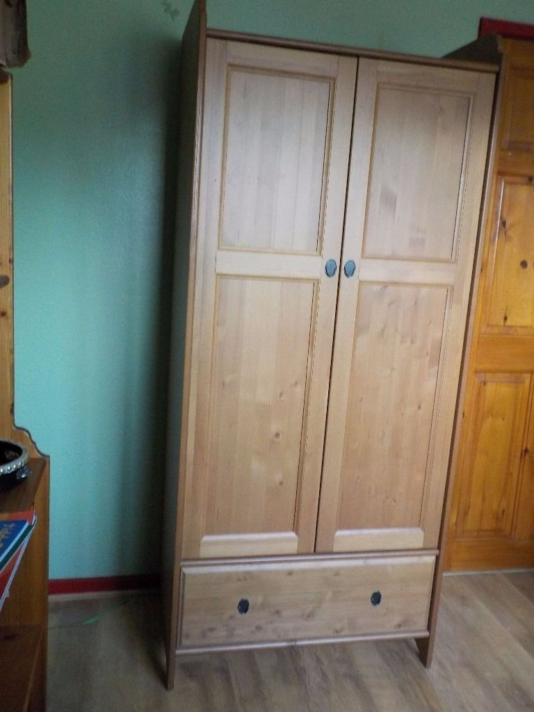 Most Up To Date Ikea Leksvik Single Wardrobe, Antique Pine, Ideal For Kids For Kids Pine Wardrobes (View 9 of 15)