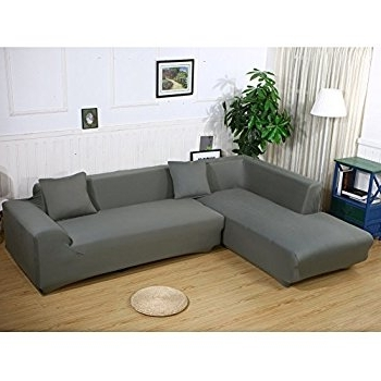 Most Up To Date L Shaped Sofas Pertaining To Amazon: Premium Quality Sofa Covers For L Shape, 2pcs (View 4 of 10)