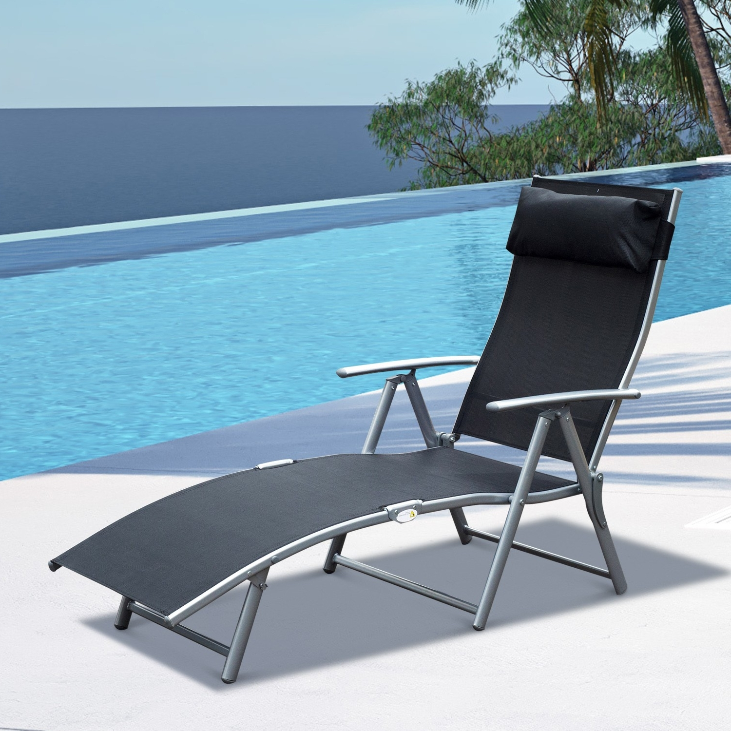 Most Up To Date Lounge Chair : Folding Lawn Chairs Sturdy Outdoor Chaise Lounge In Heavy Duty Chaise Lounge Chairs (View 12 of 15)