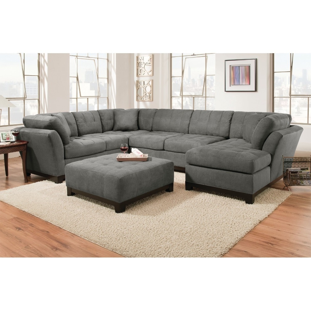 Most Up To Date Manhattan Sectional – Sofa, Loveseat & Lsf Chaise – Slate Regarding Loveseats With Chaise (View 13 of 15)