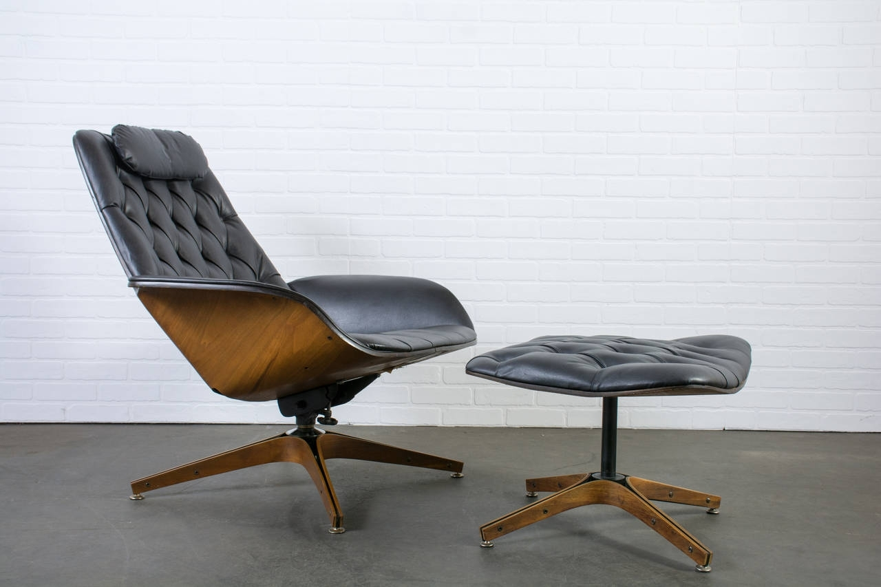Most Up To Date Mid Century Modern Chaise Lounges Within Lounge Chair : White Modern Chaise Lounge Single Lounge Chairs (View 12 of 15)