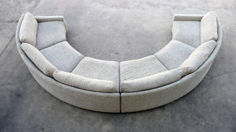 Most Up To Date Milo Baughman Semi Circular Party Sofa At 1Stdibs For Semicircular Sofas (View 5 of 10)