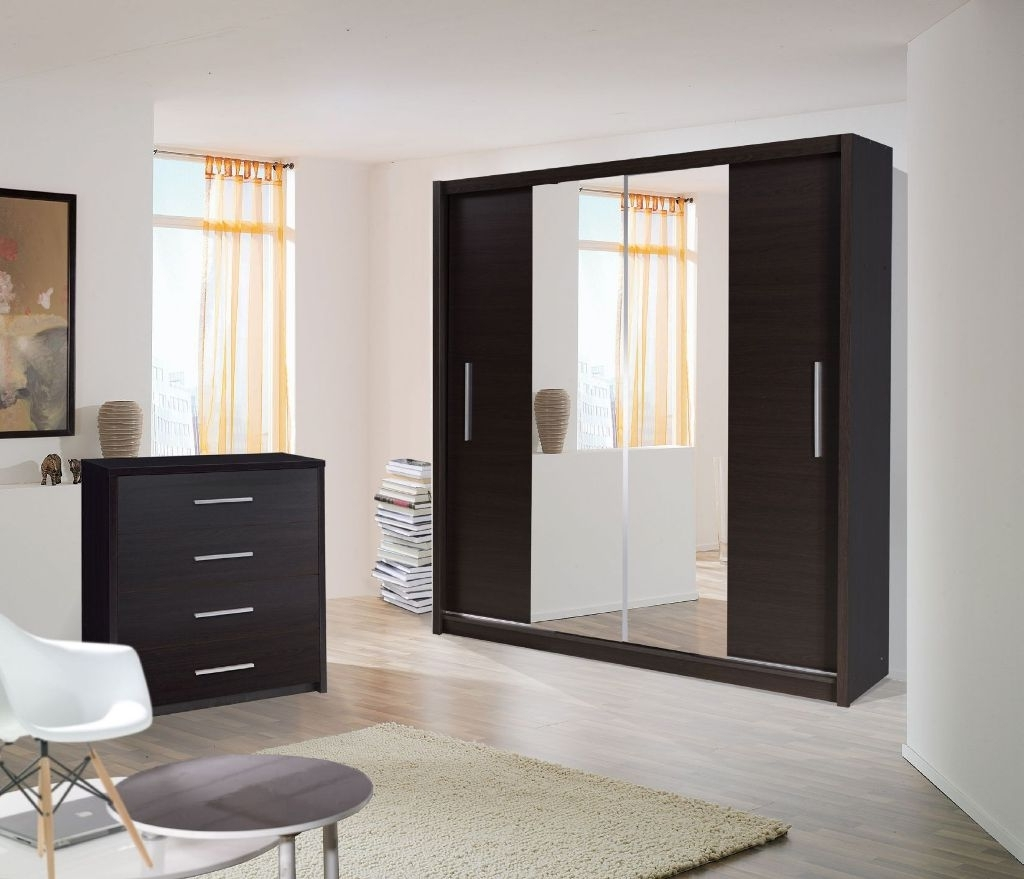 Most Up To Date One Door Mirrored Wardrobes In Wardrobes With Sliding Mirror Doors Mirrored Wardrobe 2 Door When (View 7 of 15)