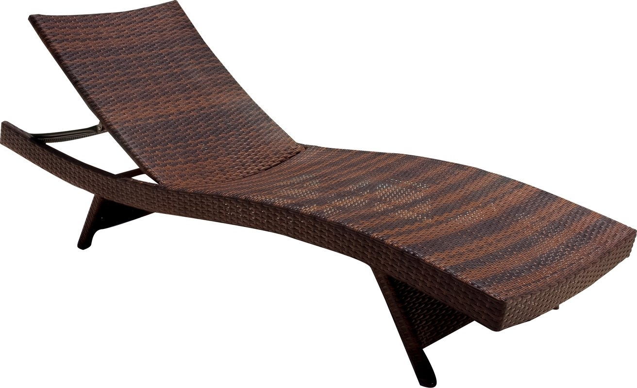 Most Up To Date Sam's Club Outdoor Chaise Lounge Chairs Within Mercury Row Athanasius Reclining Adjustable Chaise Lounge (View 9 of 15)