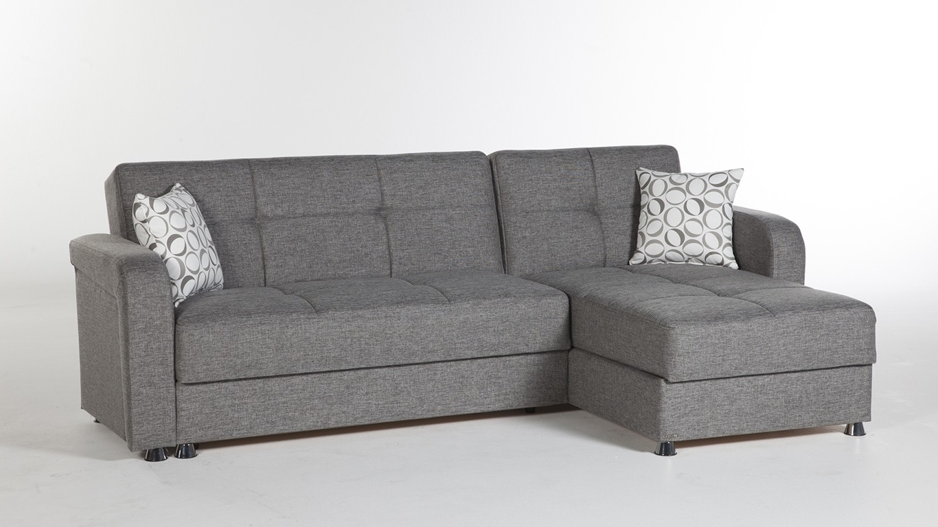 Most Up To Date Sectional Sleeper Sofa Intended For Grey Sofas With Chaise (View 12 of 15)