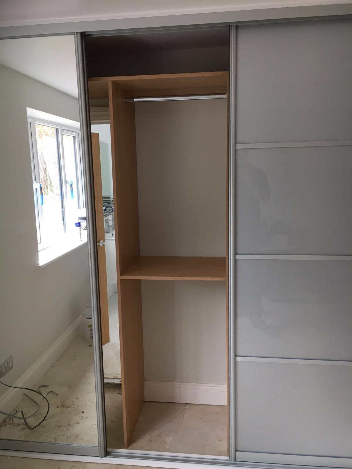 Most Up To Date Silver Wardrobes Within 3 Door Sliding Wardrobe, Silver Glass And Mirror Doors (View 3 of 15)