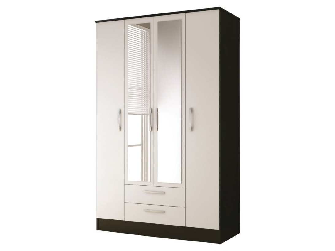 Most Up To Date Single White Wardrobes With Mirror Regarding Ikea White Wardrobe With Mirror Door Drawers And Single Can Make (View 4 of 15)