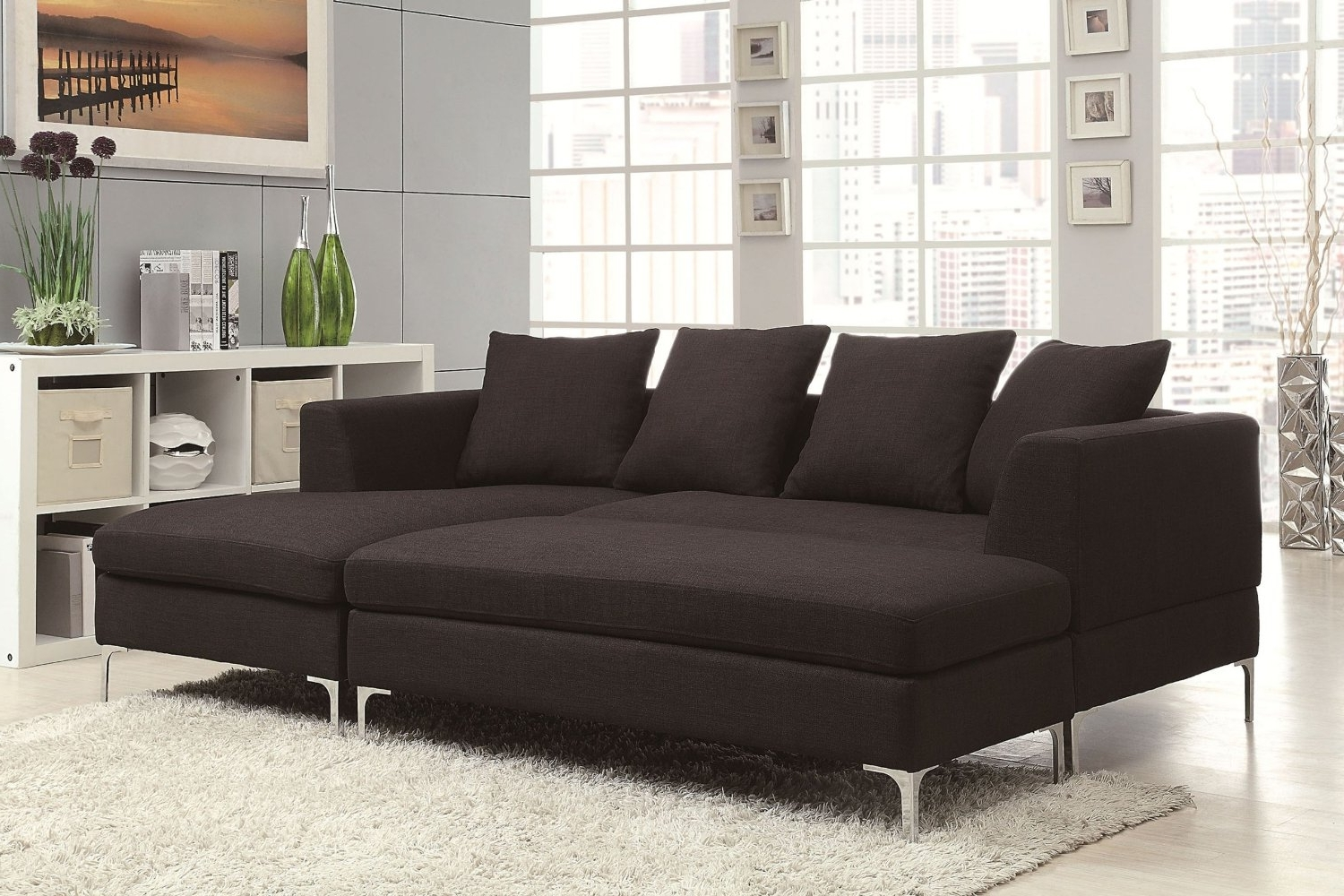 Most Up To Date Sofa : Modular Sofa Reclining Sectional With Chaise Small Regarding Sectional Chaise Sofas (View 6 of 15)