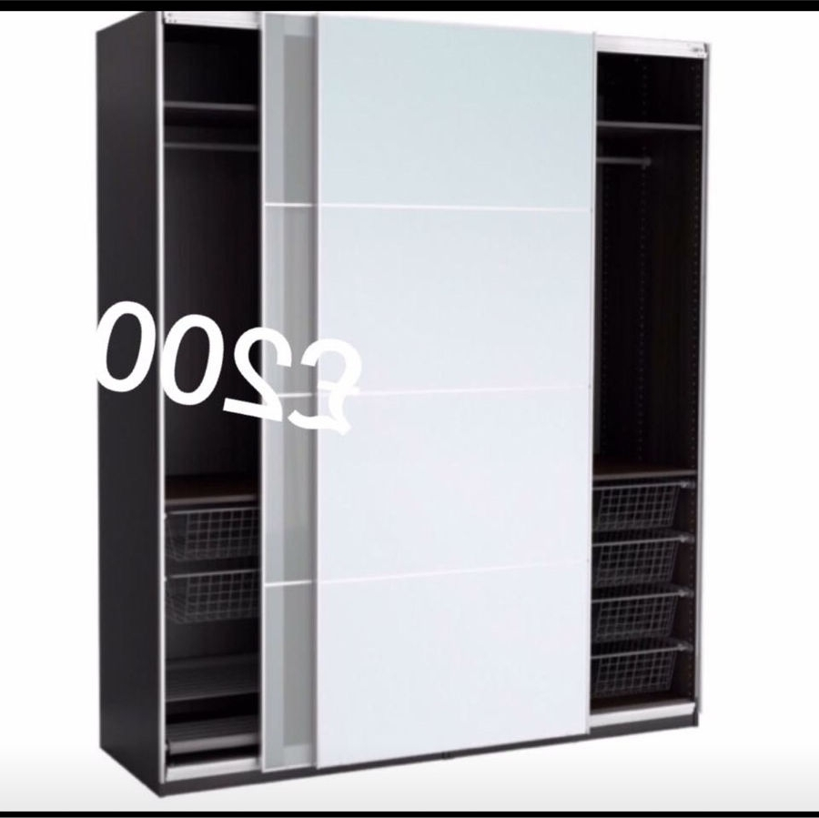 Most Up To Date Triple Mirrored Wardrobes With Ikea Pax Triple Wardrobe Mirrored Slide Doors (View 3 of 15)