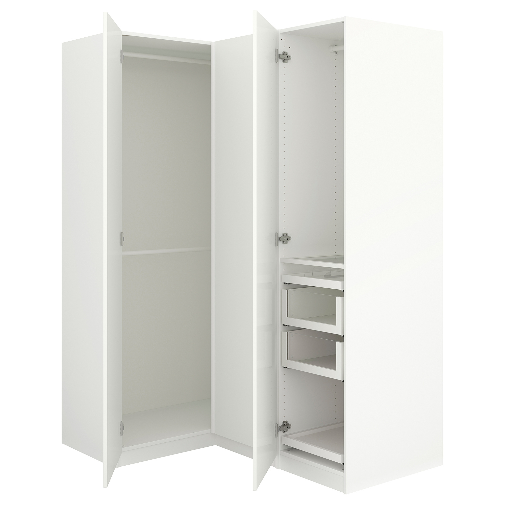 "Most Up To Date White Corner Wardrobes In Pax Corner Wardrobe – 63 1/8/43 1/2x79 1/4 "" – Ikea (View 7 of 15)"