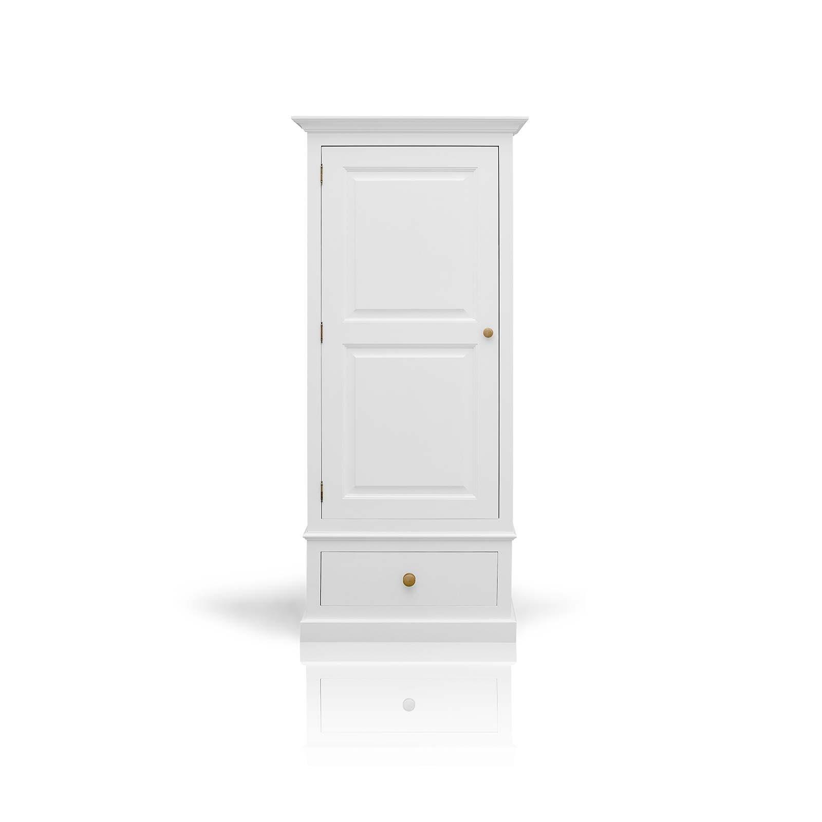 Mottisfont Painted Pine Single Wardrobe 1 Drawer Pertaining To 2018 Single White Wardrobes (View 3 of 15)