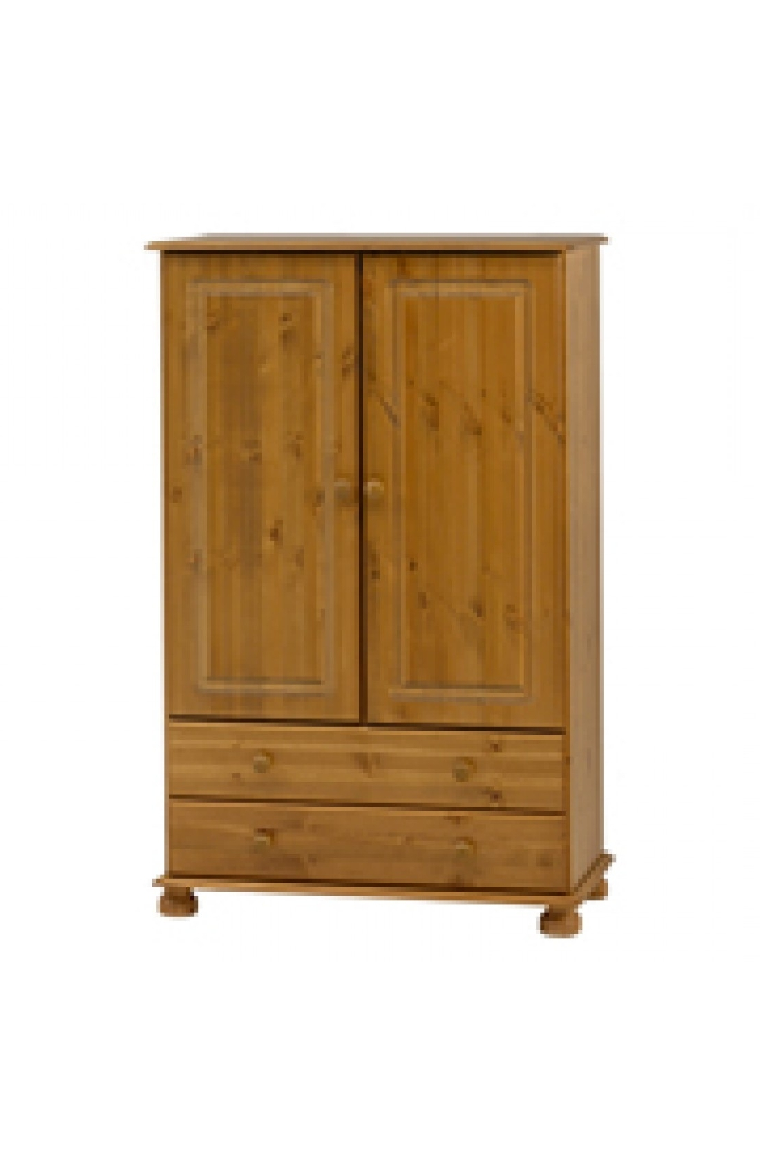 Natural Pine Wardrobes Regarding Preferred Richmond 2 Door 2 Drawer Short Low Tallboy Wardrobe – Pine (View 8 of 15)