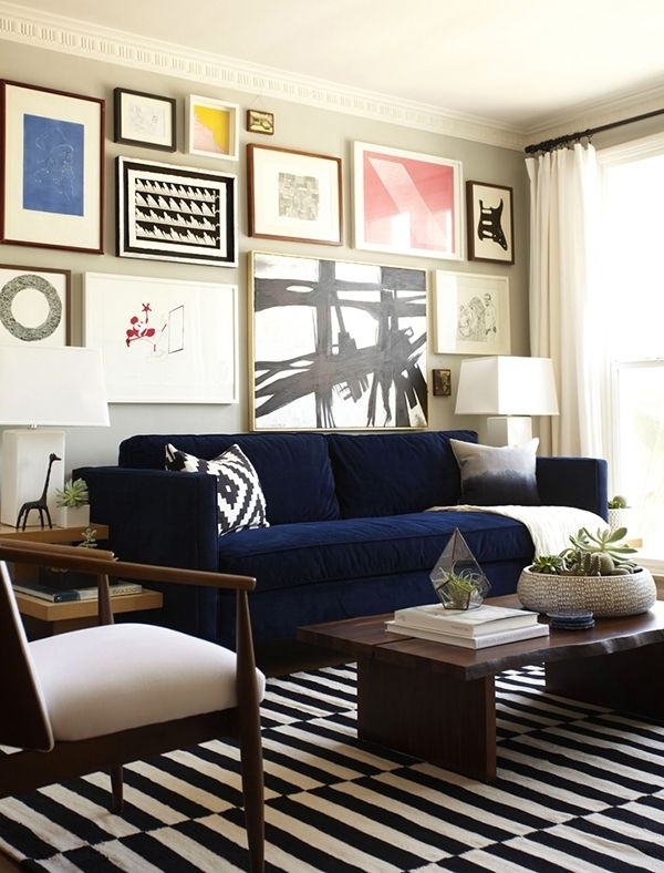 Featured Photo of Dark Blue Sofas