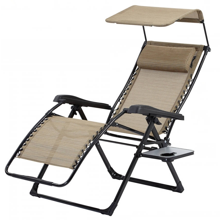 Newest Bliss Hammocks Recliner Zero Gravity Lounge Chair With Sunshade With Regard To Zero Gravity Chaise Lounges (View 7 of 15)