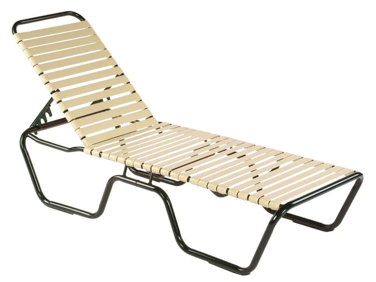 Newest Chaise Lounge Strap Chairs With Neptune Vinyl Strap Chaise Lounge – Commercial Aluminum Frame (View 9 of 15)