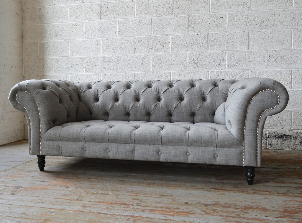 Newest Chesterfield Sofas Throughout Romford Wool Chesterfield Sofa (View 9 of 10)