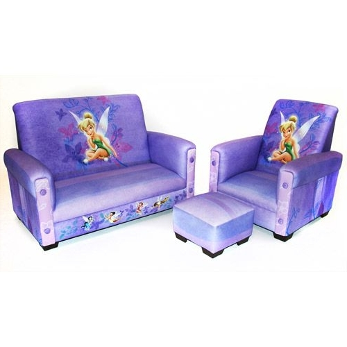 Newest Disney Sofa Chairs With Regard To Walmart: Disney – Tinker Bell Fairies Toddler Sofa, Chair And (View 7 of 10)