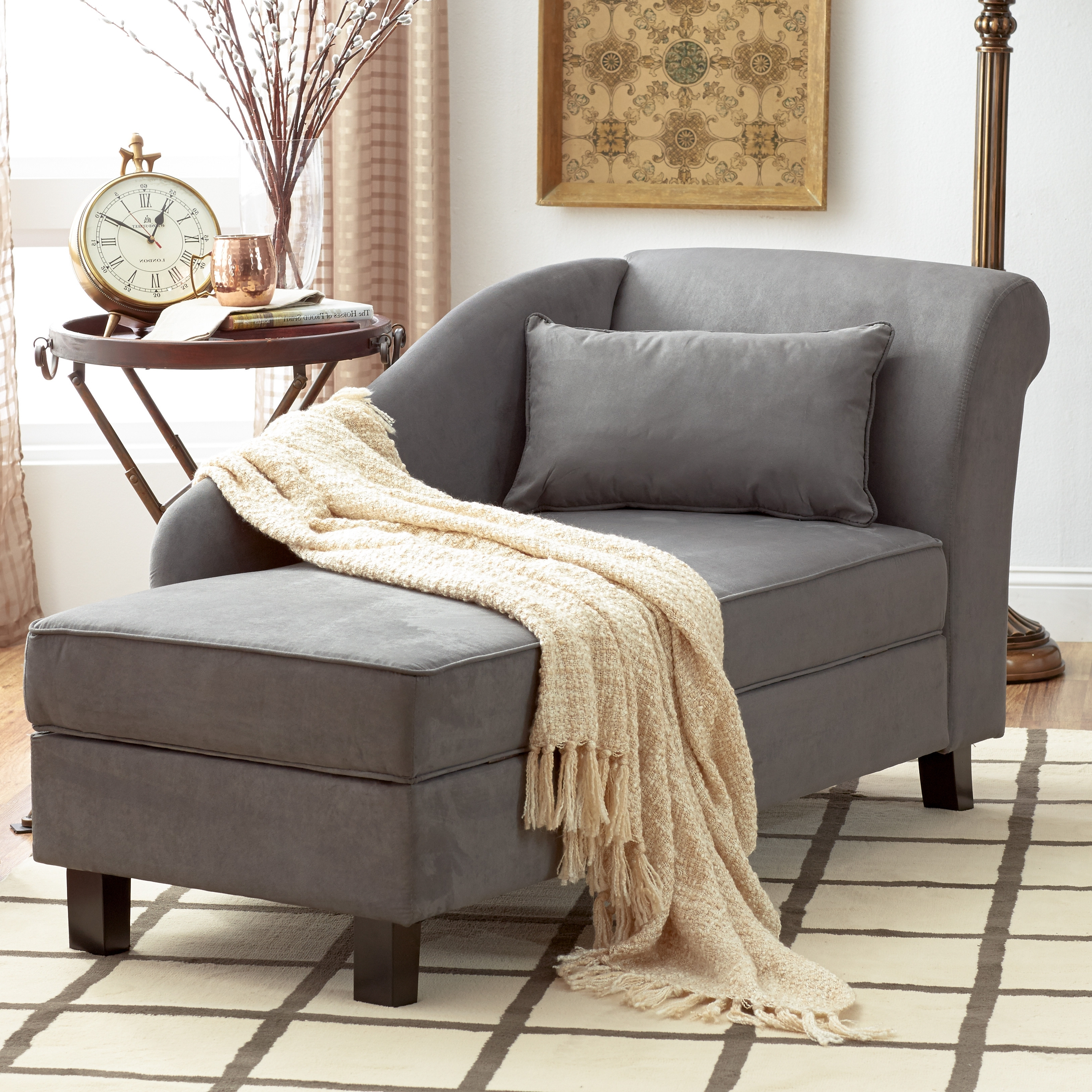 15 Photos Grey Chaise Lounge Chairs