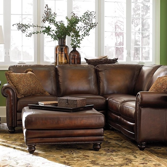 Newest High End Leather Sectional Sofas Inside Small Leather Sectional Sofa – Foter (View 8 of 10)