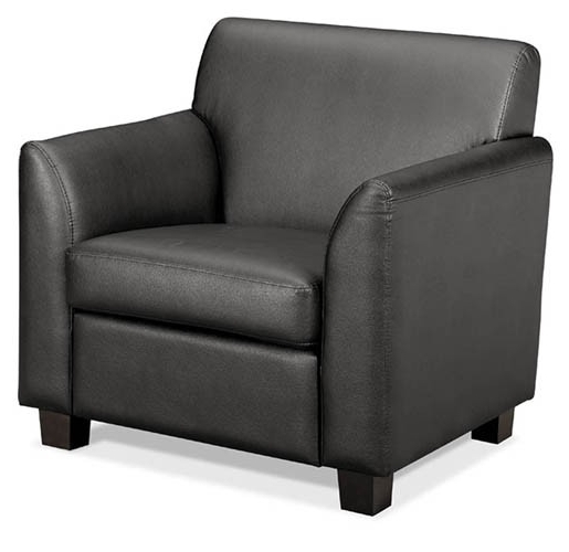Newest Hon Basyx Series Leather Lounge Seating – Club Chair (View 9 of 10)
