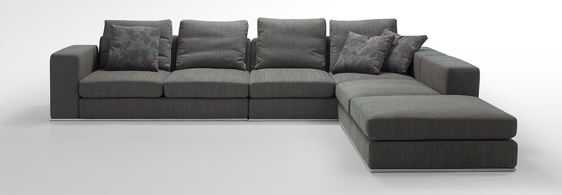 Newest Low Profile Sectional Sofas Arezzo Modern Modular Fabric Sectional Within Small Modular Sectional Sofas (View 3 of 10)