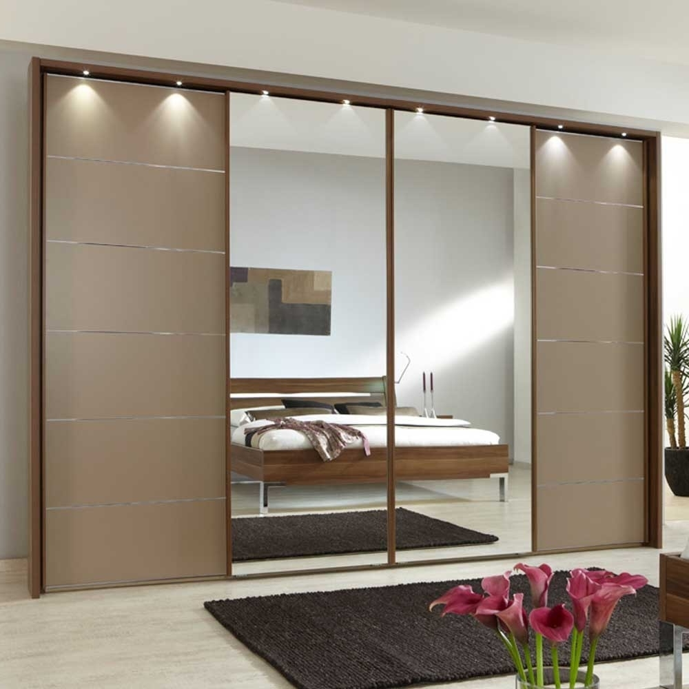 Newest Manhattan 330Cm Sliding 4 Door Wardrobe With Drawers – Furniture With Regard To 4 Door Wardrobes With Mirror And Drawers (View 12 of 15)
