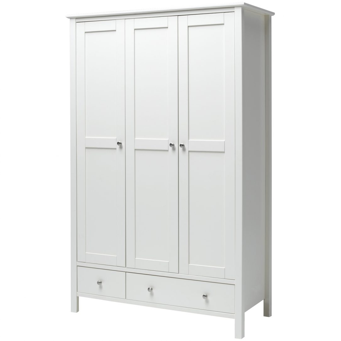 Newest Oak 3 Door Wardrobes Within 3 Door Wardrobe And Drawers Designs Catalogue Chest Of Ercol Oak (View 8 of 15)
