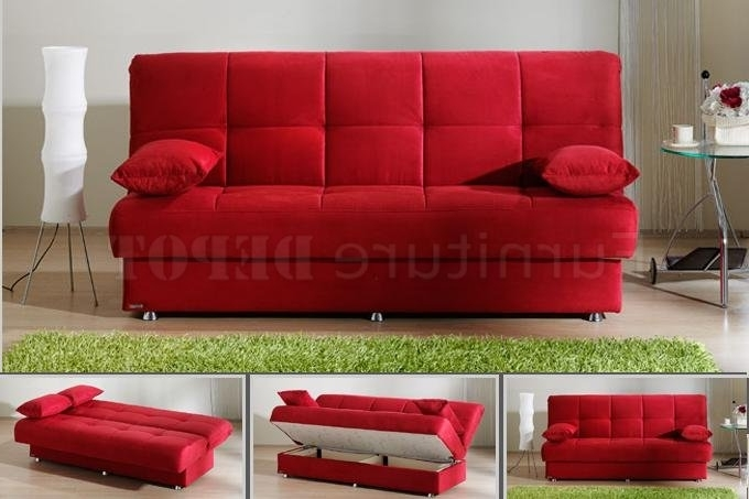 Newest Red Sofa Sleeper (View 6 of 10)
