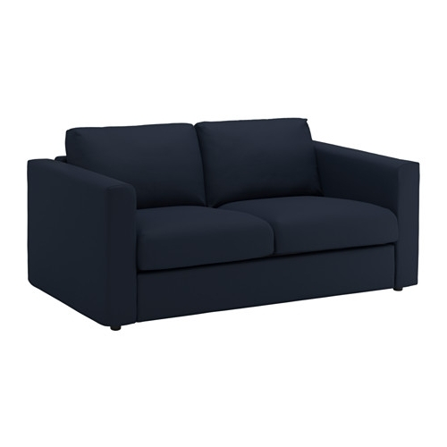 Newest Vimle 2 Seat Sofa Gräsbo Black Blue – Ikea Within 2 Seater Sofas (View 11 of 15)