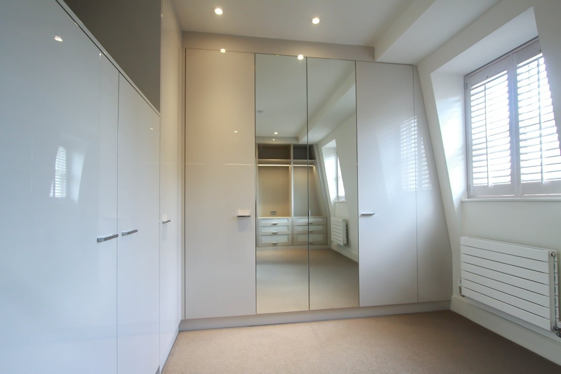 Newest White Gloss Mirrored Wardrobes Inside Fitted Wardrobes & Bedroom Furniture – London Bespoke Interiors (View 8 of 15)