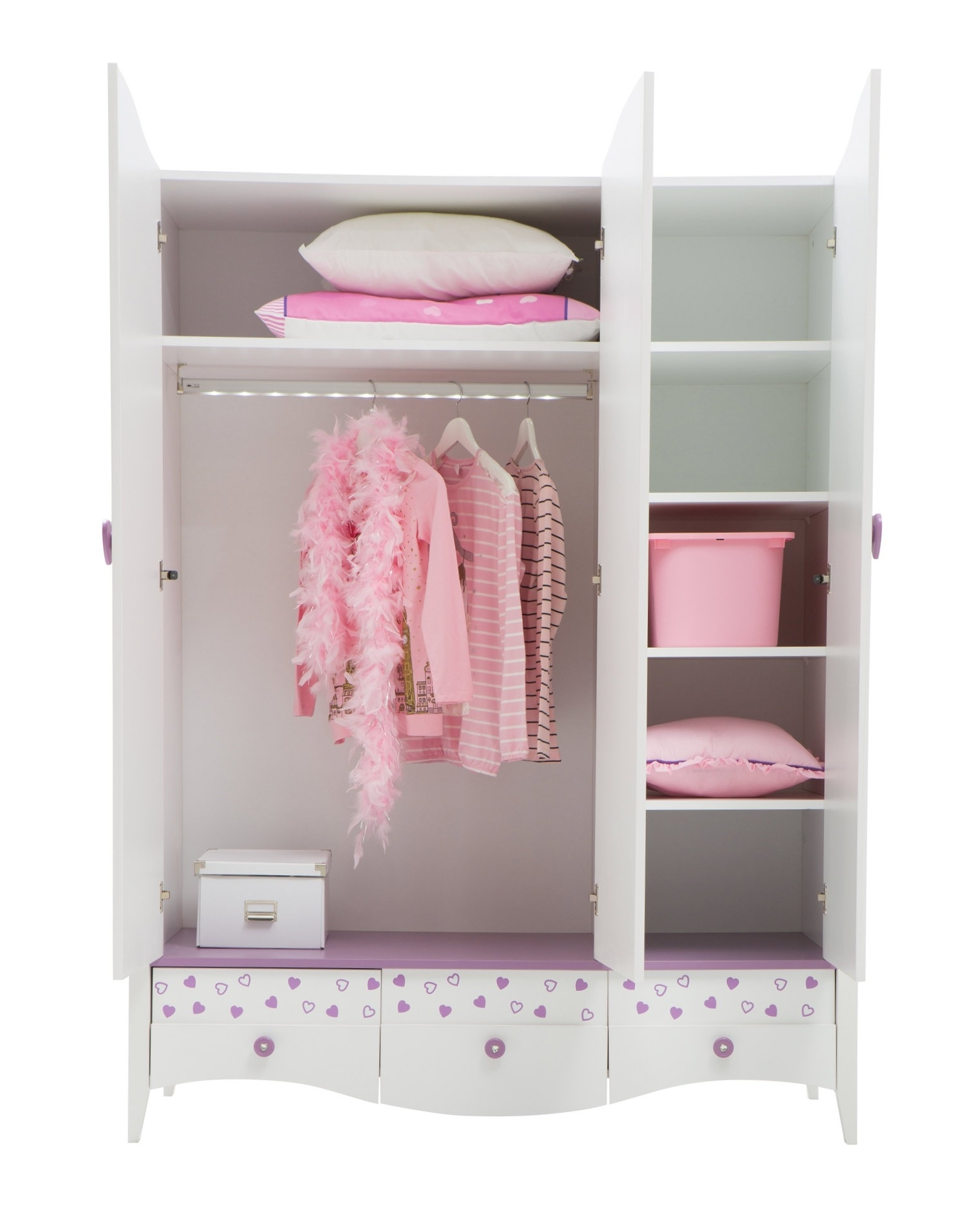 Newjoy Princess Girl's Bedroom Furniture Set Within Most Popular The Princess Wardrobes (View 3 of 11)