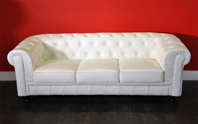 Nice Leather White Sofa Rich Look White Leather Sofa Throughout 2017 White Leather Sofas (View 6 of 10)