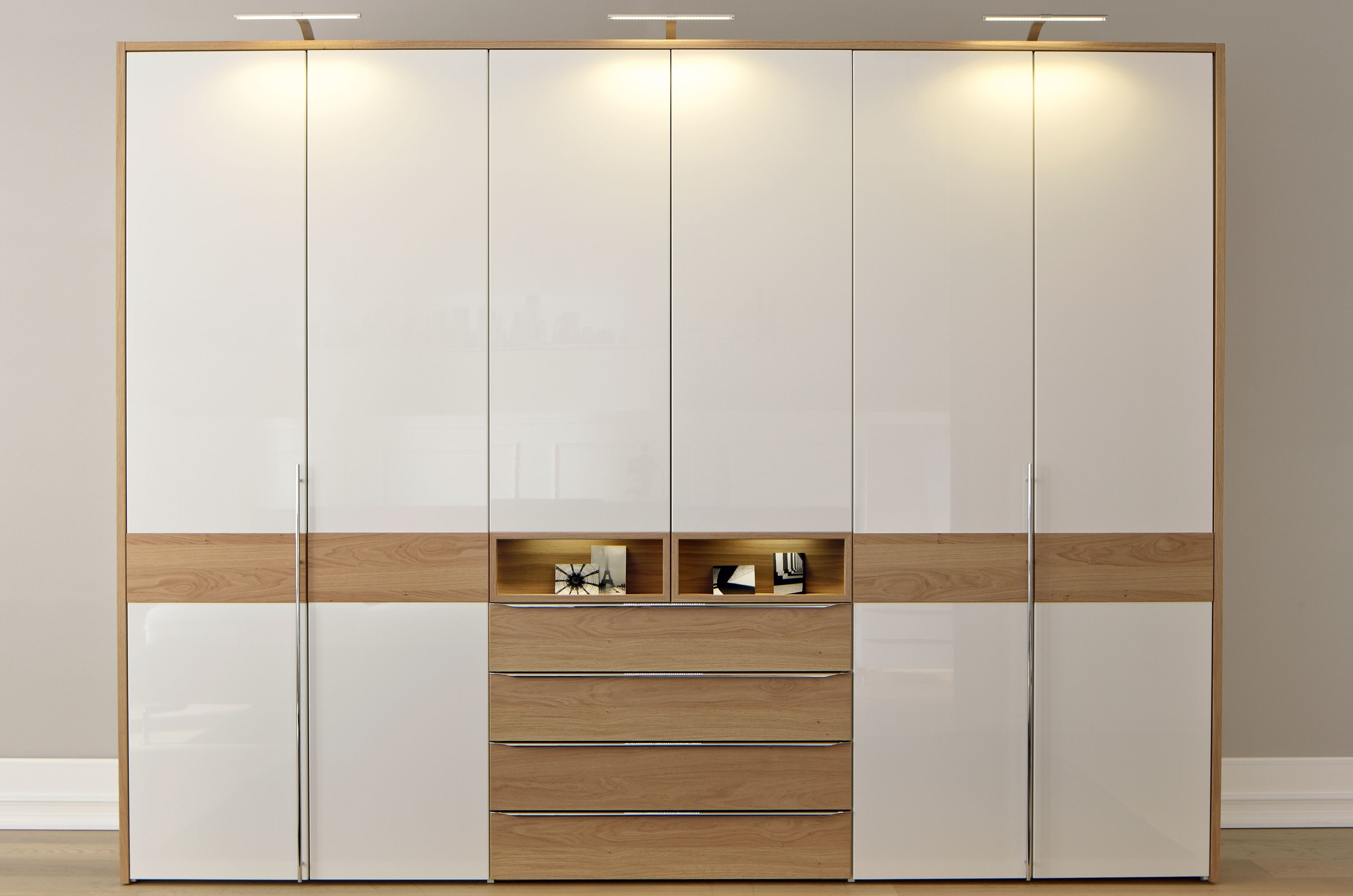 Oak And White Wardrobes Within Favorite We Would Like To Install A Wardrobe Into An Existing Cabinet (View 3 of 15)