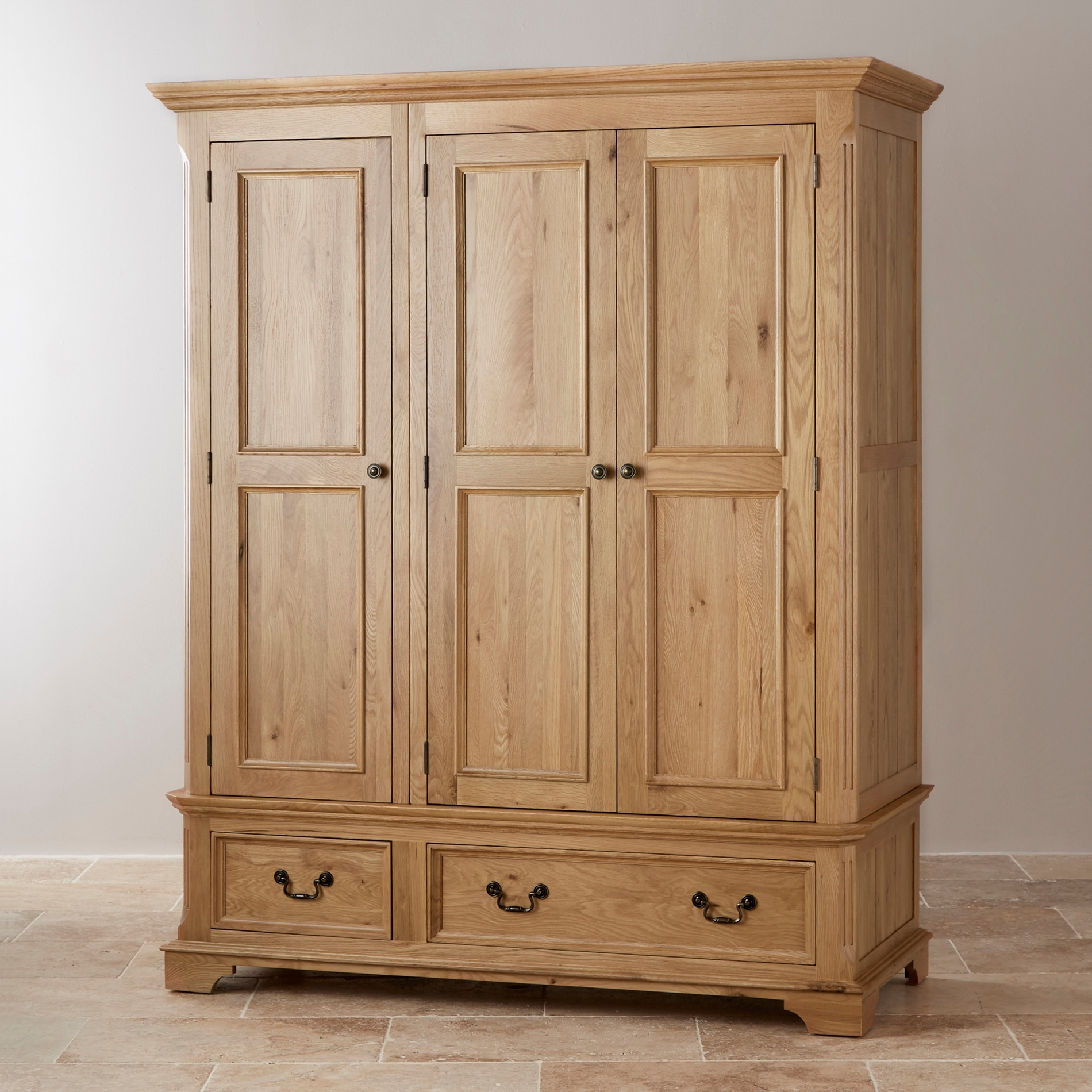 Oak Furniture Land Throughout Triple Oak Wardrobes (View 9 of 15)