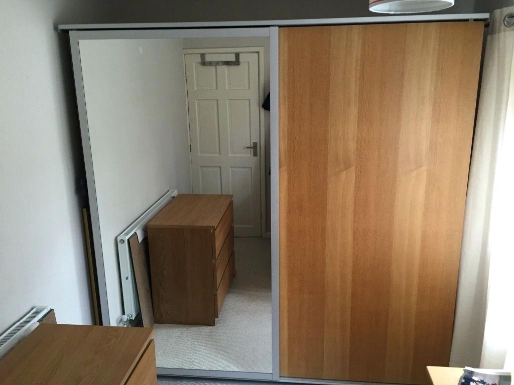 Oak Mirrored Wardrobes Pertaining To Most Popular Mirrored Sliding Door Wardrobes Ikea – Islademargarita (View 12 of 15)