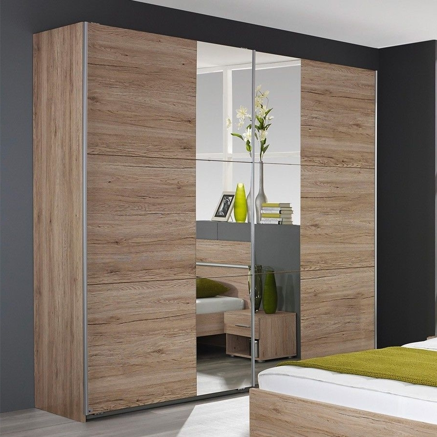 Oak Mirrored Wardrobes Regarding 2017 Rauch – Fellach Sliding Wardrobe With Part Mirrored Doors In (View 7 of 15)