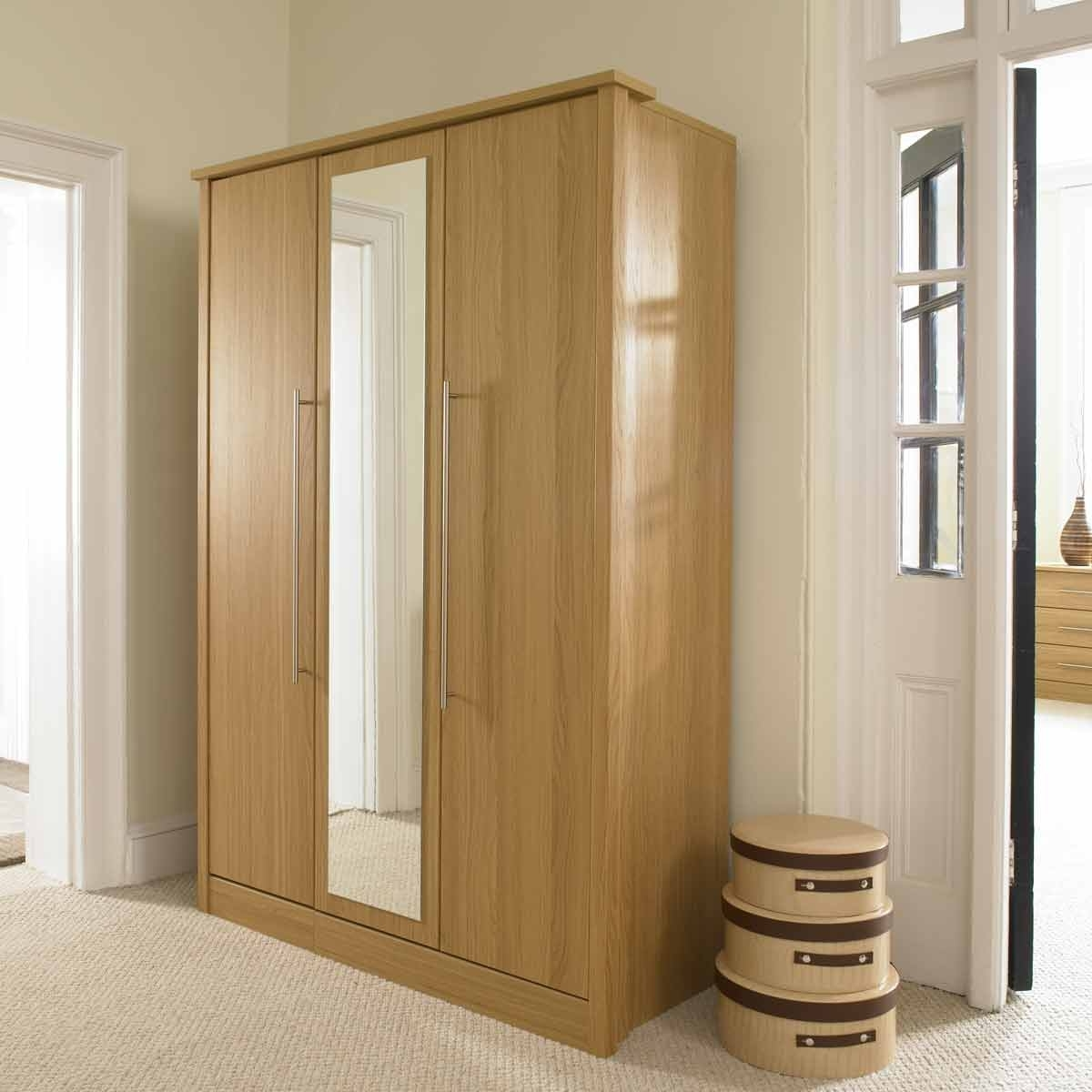 Oak Mirrored Wardrobes Within Trendy Mirrored Wardrobe Doors Sydney On Furniture Design Ideas In Hd (View 5 of 15)