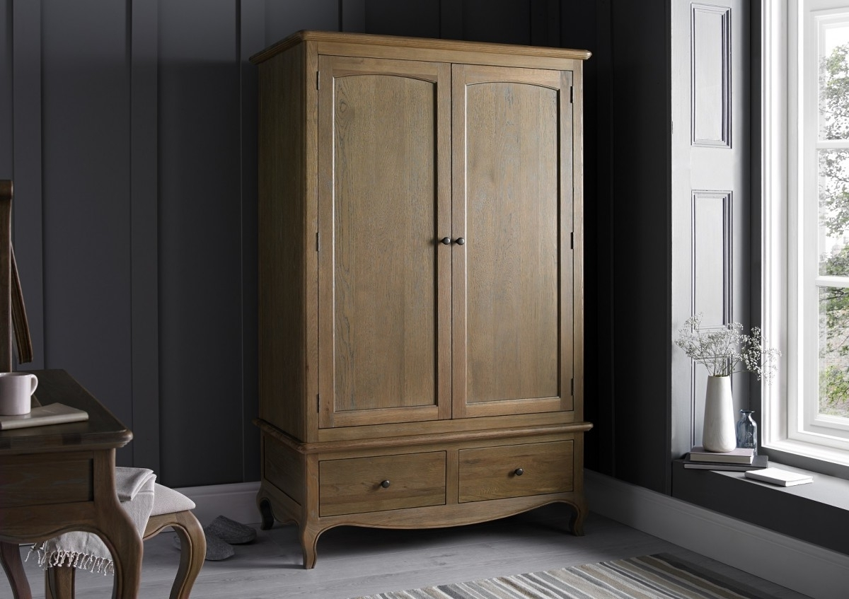 Oak Wardrobes Inside Most Recent Loire Weathered Oak Wardrobe – Dressing Tables – Furniture (View 10 of 15)
