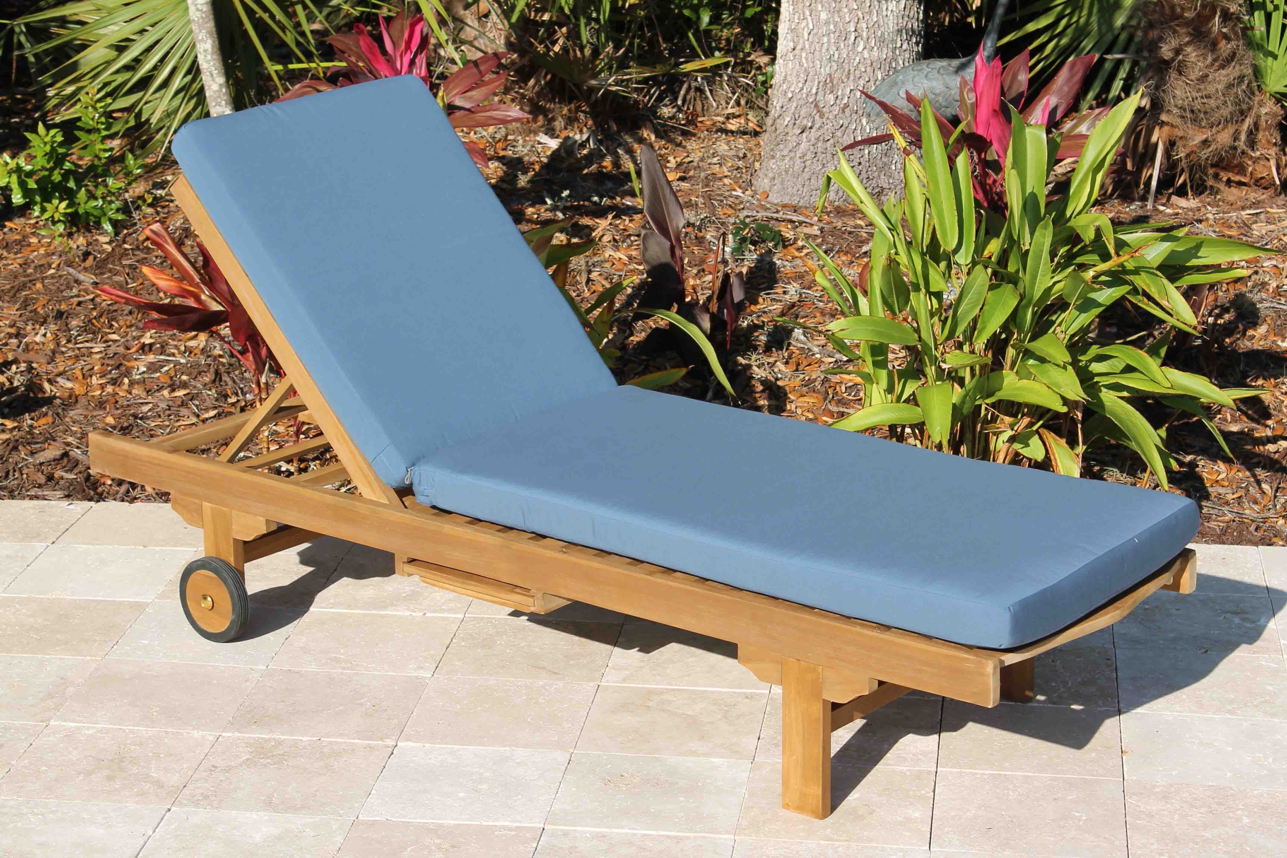 Oceanic Teak Furniture Intended For Sunbrella Chaise Lounge Cushions (View 7 of 15)