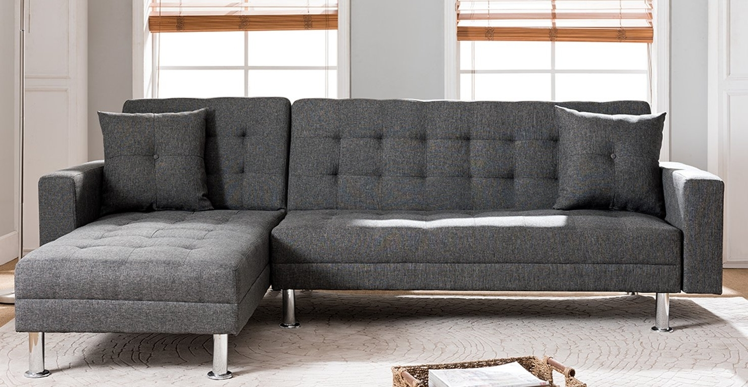 Orren Ellis Paulin Reversible Chaise Sleeper Sectional & Reviews For Popular Sofas With Reversible Chaise Lounge (View 10 of 15)