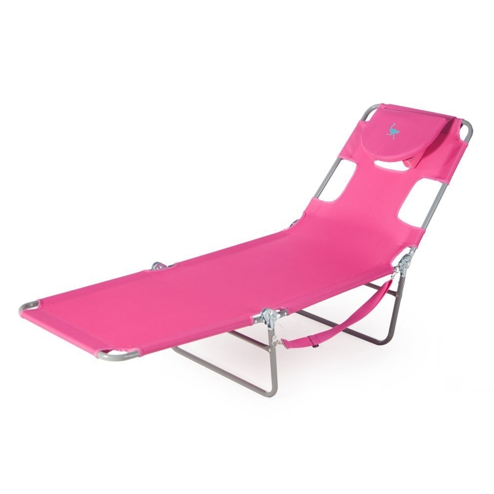 Ostrich Chair Folding Chaise Lounges Inside Current Amazon: Ostrich Chaise Lounge, Pink: Garden & Outdoor (View 8 of 15)