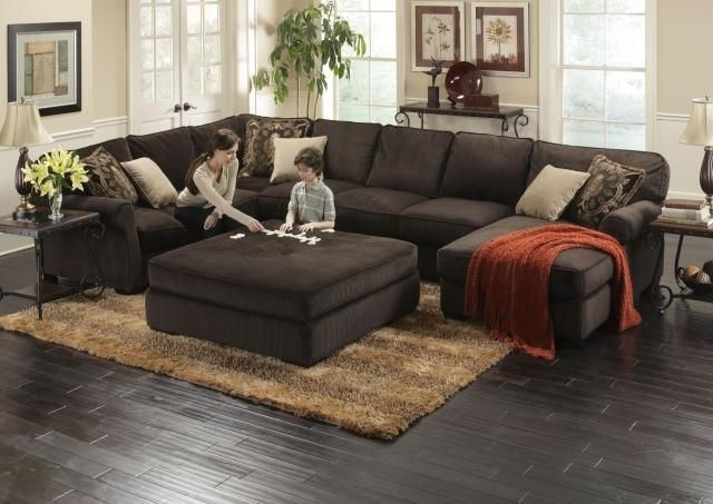 Ottomans, Feathers In Most Up To Date Sectional Couches With Large Ottoman (View 3 of 10)