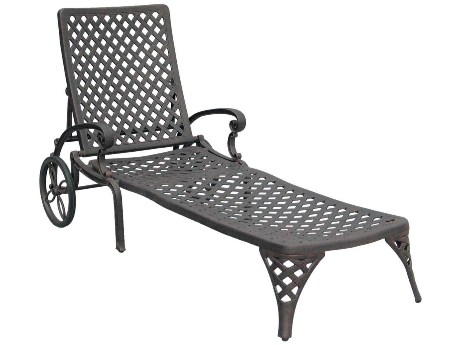 Outdoor Cast Aluminum Chaise Lounge Chairs For Recent Darlee Outdoor Living Standard Nassau Cast Aluminum Antique Bronze (View 9 of 15)