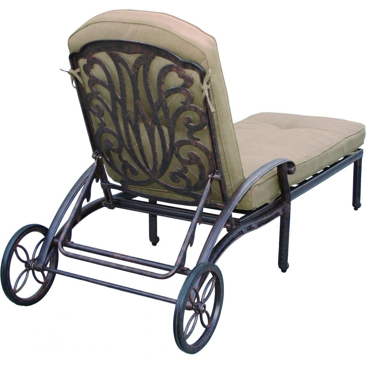 Outdoor Cast Aluminum Chaise Lounge Chairs Within 2018 Darlee Elisabeth Cast Aluminum Patio Chaise Lounge : Ultimate Patio (View 11 of 15)