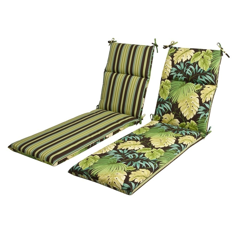 Outdoor Chaise Cushions In Fashionable Amazon: Pillow Perfect Indoor/outdoor Green/brown Tropical (View 10 of 15)