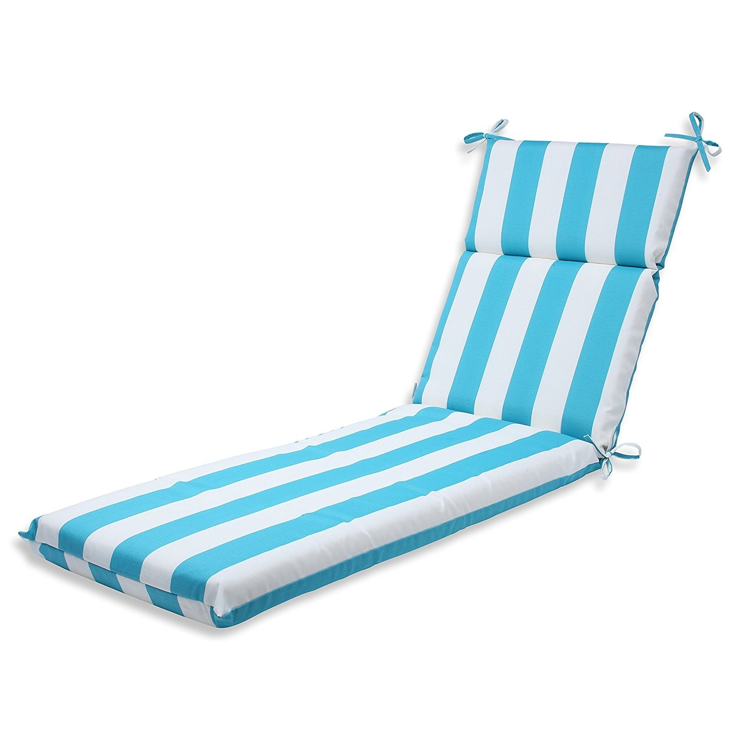Outdoor Chaise Cushions Intended For Most Popular Amazon: Pillow Perfect Outdoor Cabana Stripe Chaise Lounge (View 11 of 15)