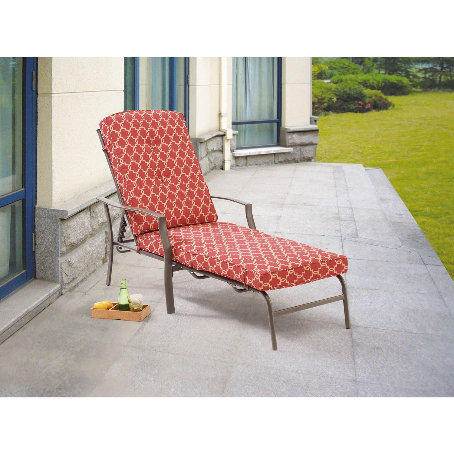 Outdoor Chaise Lounge Chairs At Walmart With Best And Newest Cosco Outdoor Adjustable Aluminum Chaise Lounge Chair Serene Ridge (View 6 of 15)