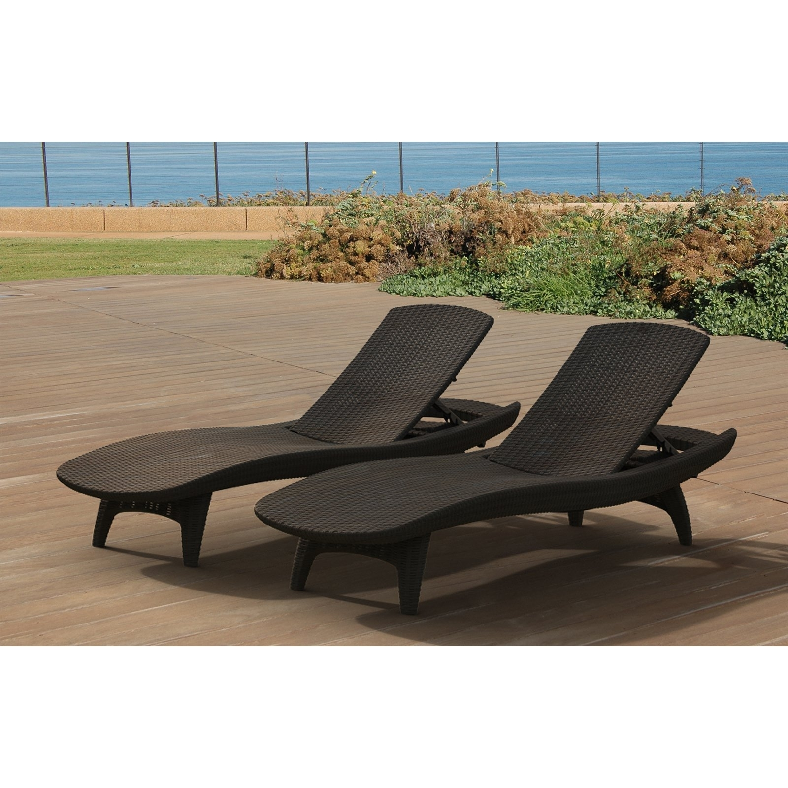 Outdoor Chaise Lounge Chairs Under $200 For Trendy Keter Outdoor Chaise Lounge – Set Of  (View 8 of 15)