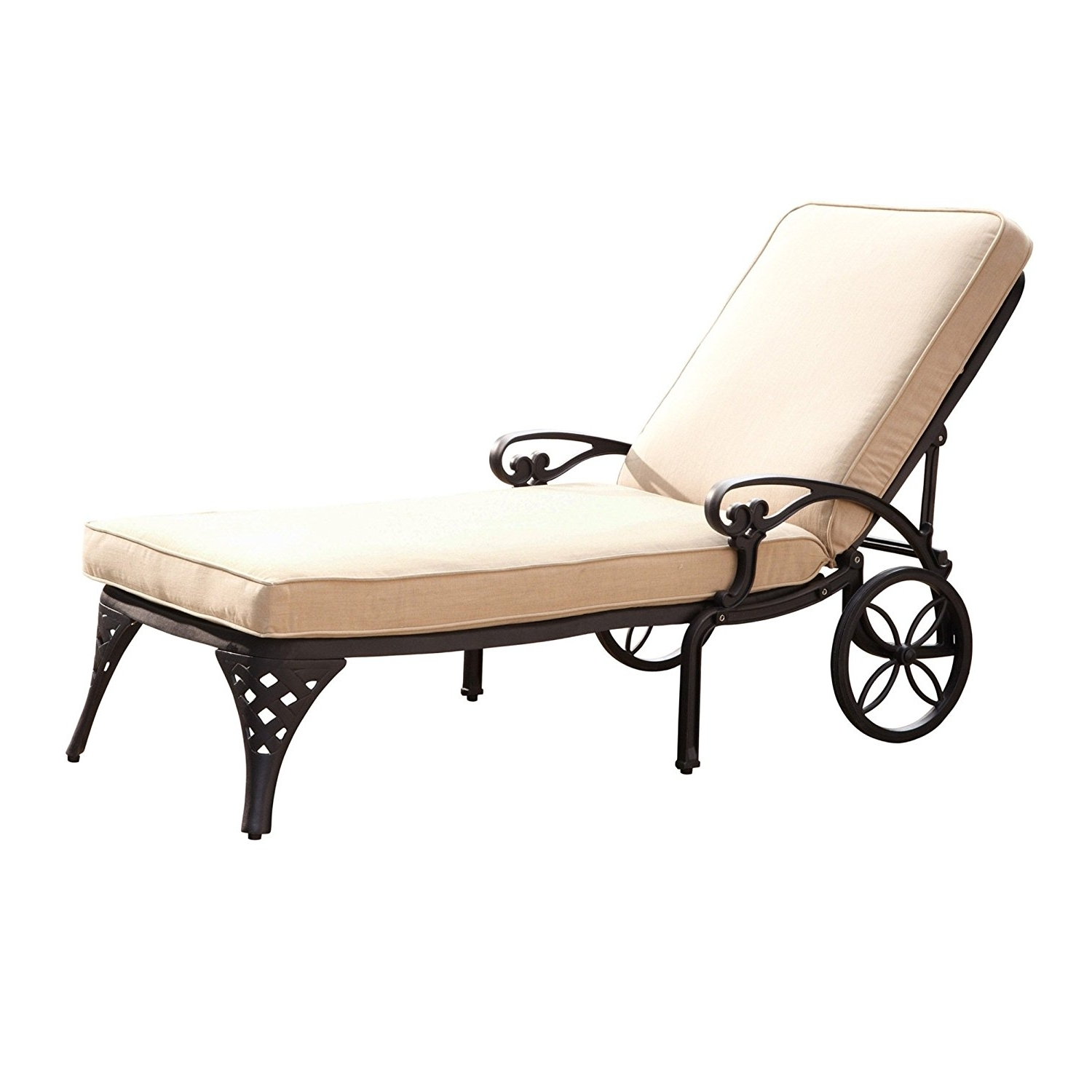 Outdoor Cushions For Chaise Lounge Chairs In Most Up To Date Amazon : Home Styles Biscayne Chaise Lounge Chair, Taupe (View 15 of 15)